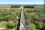 Photo #69920 - Aerial view of the route 7 bridge over the Santa Lucia River