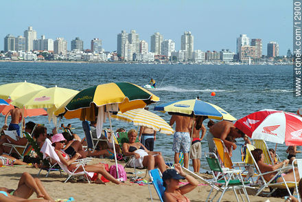 Photographs of beaches of Punta del Este - Punta del Este and its near resorts - URUGUAY. Image #12900