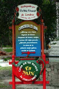 Welsh Tea House announcement - Photographs of Gaiman - Province of Chubut - ARGENTINA. Image #5622