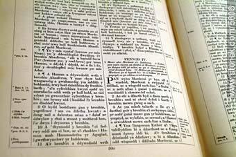 Welsh writing. - Photographs of Gaiman - Province of Chubut - ARGENTINA. Image #5606