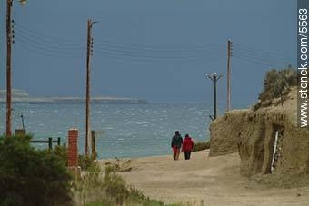 Stormy day in Puerto Piramides - Photographs of Puerto Pirámides - Province of Chubut - ARGENTINA. Image #5563