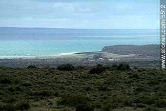 View from Istmus Museum to Gulf of San Jose - Photographs of Peninsula Valdes - Province of Chubut - ARGENTINA. Image #5512