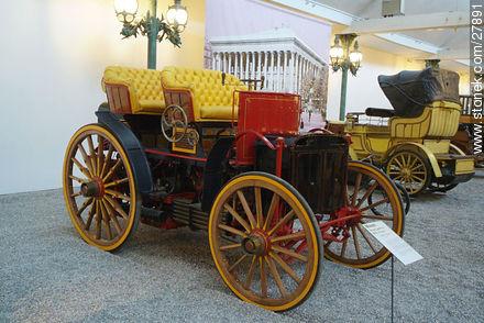 Menier double phaeton 1893 - Photos of the Musée National de l'Automobile de Mulhouse - Region of Alsace - FRANCE. Image #27891