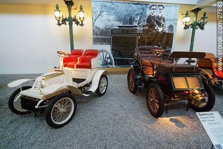 Serpollet Vis-a-vis type D, 1901 - Photos of the Musée National de l'Automobile de Mulhouse - Region of Alsace - FRANCE. Image #27883