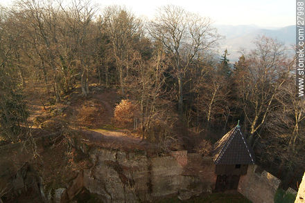 View from Haut-Koenigsbourg castle - Photos of the castle Haut-Koenigsbourg  - Region of Alsace - FRANCE. Image #27998