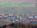 Foto #28012 - View from Haut-Koenigsbourg castle. Town of Saint-Hippolyte.