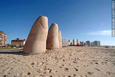 Los Dedos at Playa Brava in Punta del Este - Photographs of beaches of Punta del Este - Punta del Este and its near resorts - URUGUAY. Image #18531