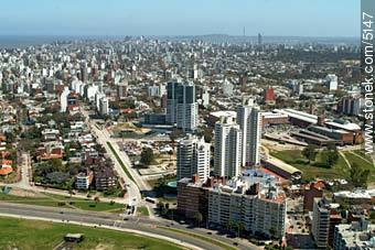 Rambla Armenia y 26 de Marzo. World Trace Center Montevideo. Torres Nauticas. Torre Caelus. Montevid - Aerial photos of Montevideo - Department and city of Montevideo - URUGUAY. Image #5147