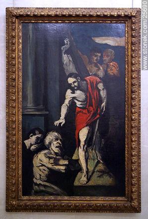 Paul Cézanne (1839-1906) Le Christ aux limbes (1867-69) - Photos of Orsay's Museum - Paris - FRANCE. Image #25690