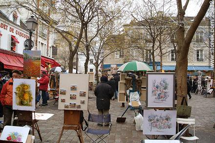 Photos of Montmarte, Basilica of Sacret Heart - Sacre Coeur, Moulin Rouge, etc. - Paris - FRANCE. Image #25832