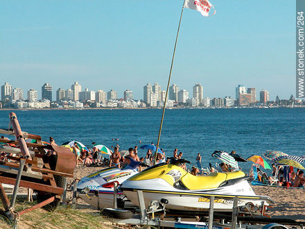 Photographs of beaches of Punta del Este - Punta del Este and its near resorts - URUGUAY. Image #264