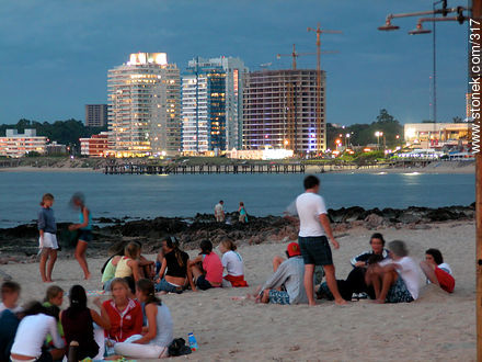 Photographs of beaches of Punta del Este - Punta del Este and its near resorts - URUGUAY. Image #317