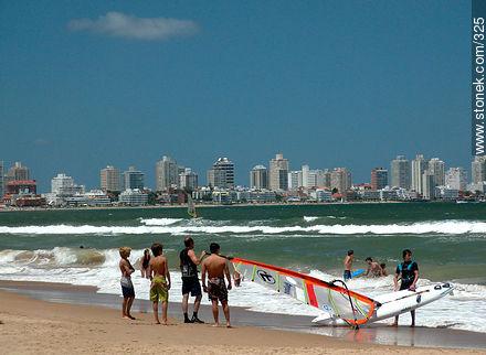 Photographs of beaches of Punta del Este - Punta del Este and its near resorts - URUGUAY. Image #325