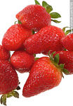 Photo #8798 - Strawberries on white background